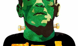 Illustration Franken EPA by Greg Groesch for The Washington Times