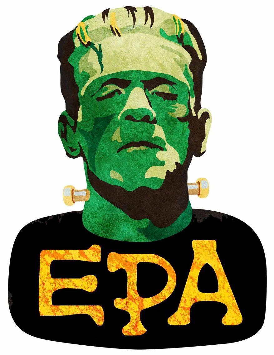 Illustration Franken EPA by Greg Groesch for The Washington Times