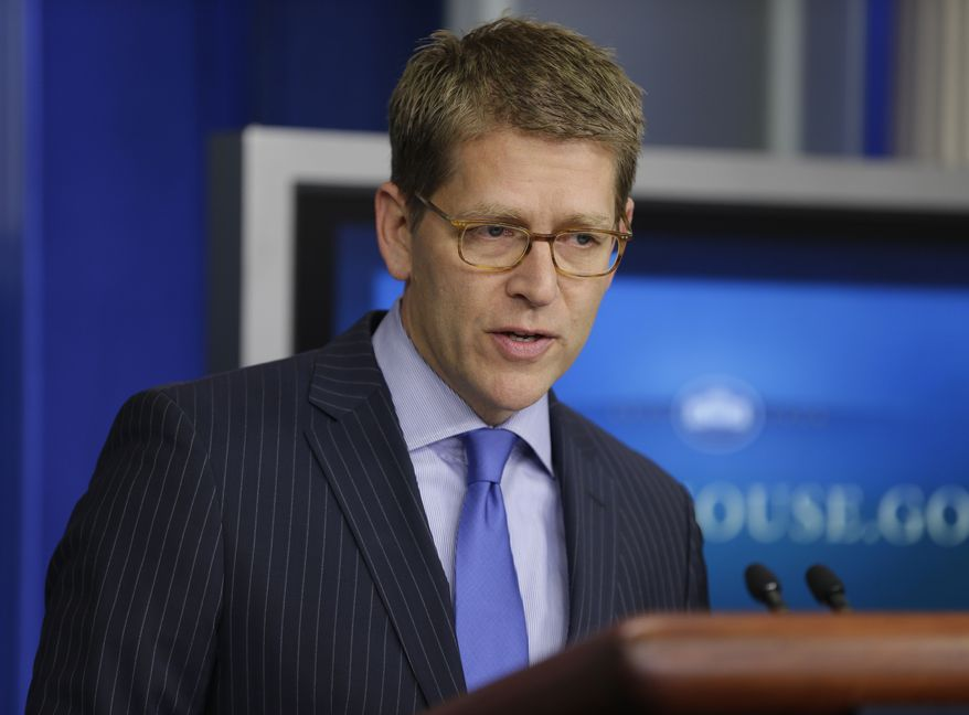 White House press secretary Jay Carney gives his daily news briefing at the White House in Washington on Tuesday, Sept., 18, 2012. (AP Photo/Pablo Martinez Monsivais)