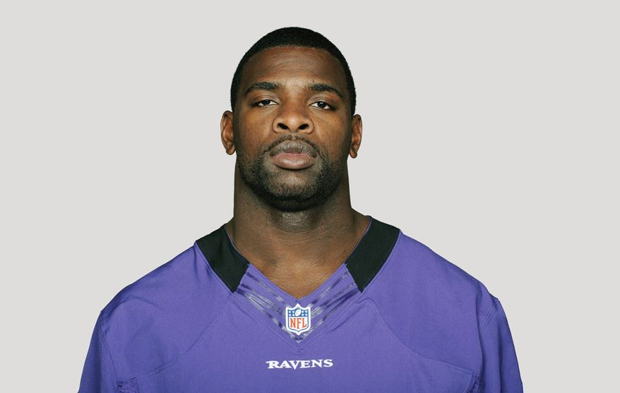 This is a 2012 photo of Bernard Pollard of the Baltimore Ravens NFL football team. This image reflects the Baltimore Ravens active roster as of Friday, May 11, 2012 when this image was taken. (AP Photo)