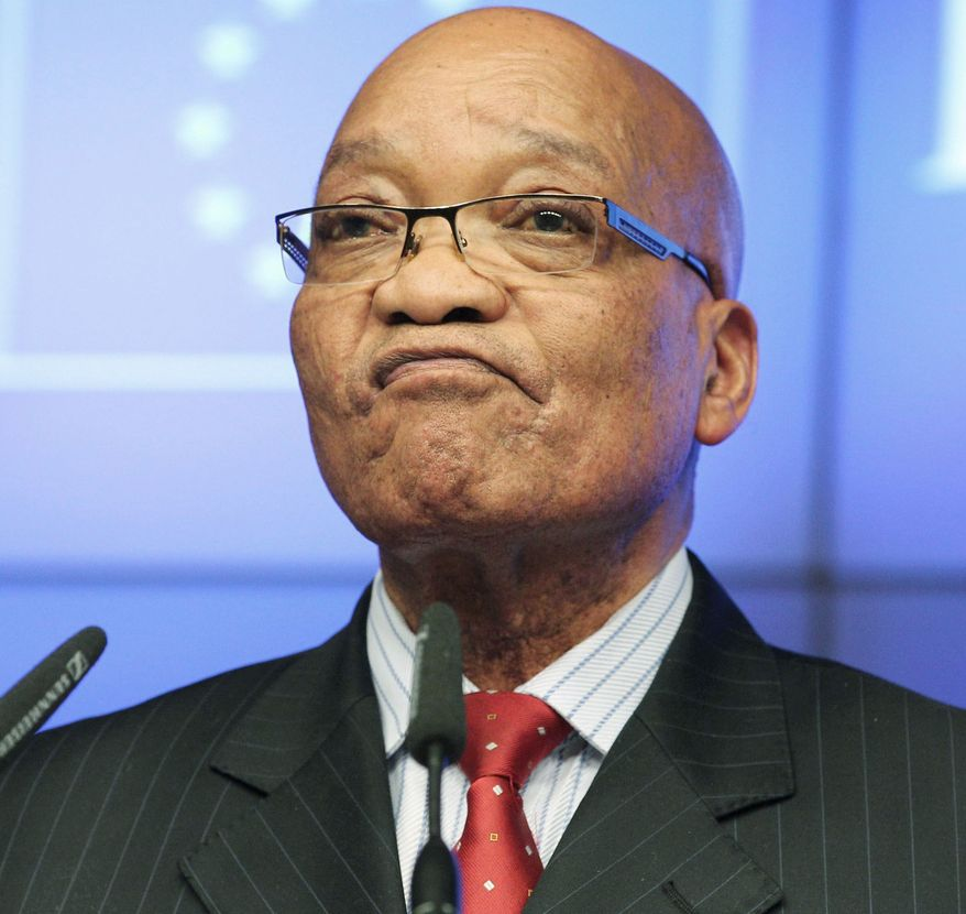 South African President Jacob Zuma on Tuesday encouraged European leaders to break the deadlock in negotiations for an economic partnership with southern African nations. (Associated Press)