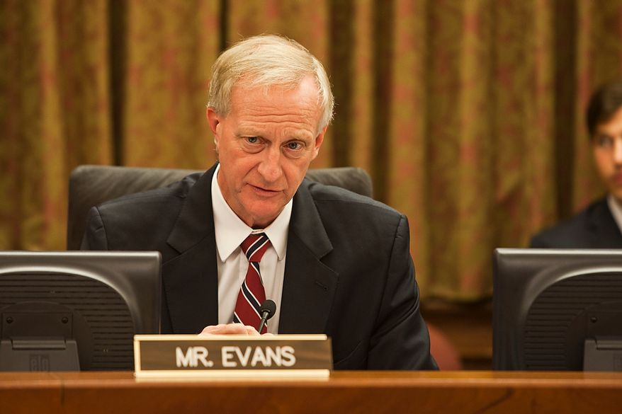 D.C. City Council council member, Jack Evans speaks during the first whole city council meeting after the summer recess. Wednesday, Sept. 19, 2012, in Washington, DC. (Craig Bisacre/The Washington Times)