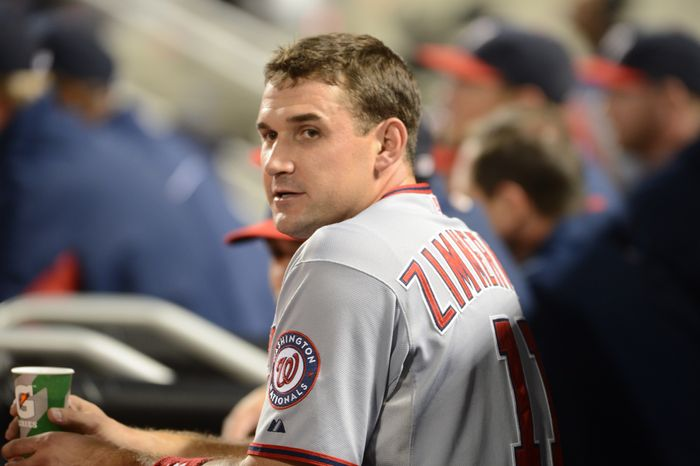 Ryan Zimmerman received his fourth cortisone shot of the season on Wednesday afternoon. (Associated Press)