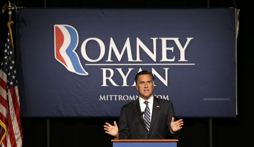 Republican presidential candidate Mitt Romney speaks at a campaign fundraiser in Salt Lake City on Tuesday, Sept. 18, 2012. (AP Photo/Charles Dharapak)