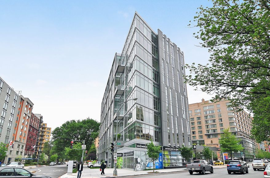 Unit 9H at 22 West Residences at 1177 22nd St. NW is on the market for $1,775,000. The two-bedroom penthouse-level condominium comes with two assigned garage spaces.