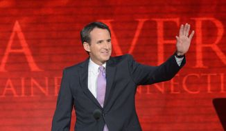 Former Minnesota Gov. Tim Pawlenty addresses the Republican National Convention in Tampa, Fla., in August. He has resigned as a national co-chairman of Republican Mitt Romney's presidential campaign and ruled out any 2014 political races in Minnesota. (Rod Lamkey Jr./The Washington Times)