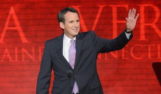 Former Minnesota Gov. Tim Pawlenty addresses the Republican National Convention in Tampa, Fla., in August. (Rod Lamkey Jr./The Washington Times) ** FILE **