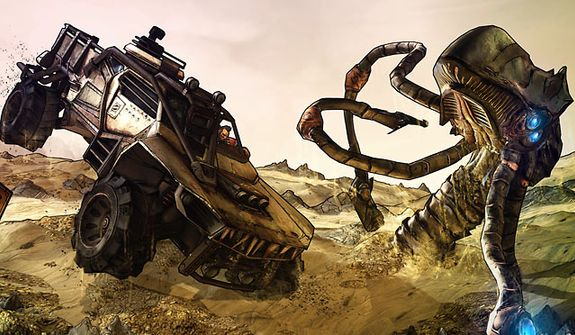 Use vehicles to explore and fight on Pandora in the video game Borderlands 2.