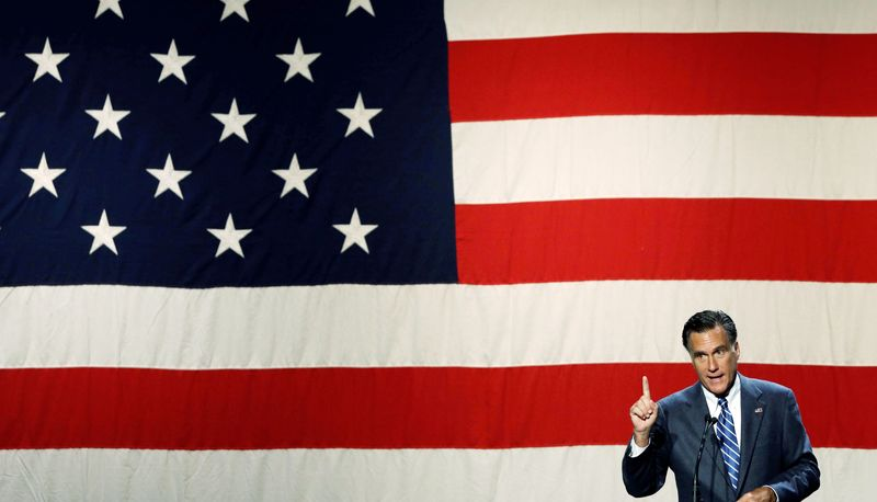 Former Massachusetts Gov. Mitt Romney, the Republican presidential nominee, speaks at a campaign fundraising event at the Beverly Hilton Hotel in Los Angeles on Saturday. The candidate is preparing for the three presidential debates, which will present the greatest opportunities to speak directly to voters. But a gaffe-turned-sound bite would leave little time to recover before Election Day. (Associated Press)
