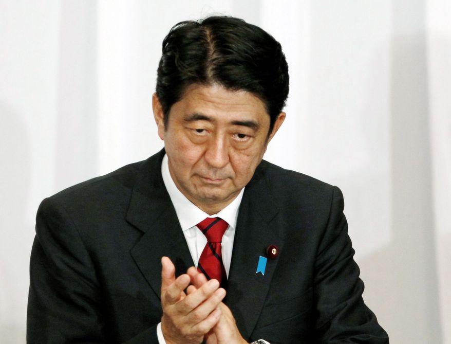** FILE ** Japanese Prime Minister Shinzou Abe. (Associated Press)