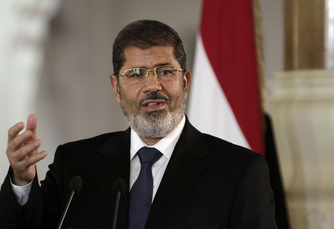 ** FILE ** Egyptian President Mohammed Morsi (AP Photo/Maya Alleruzzo)