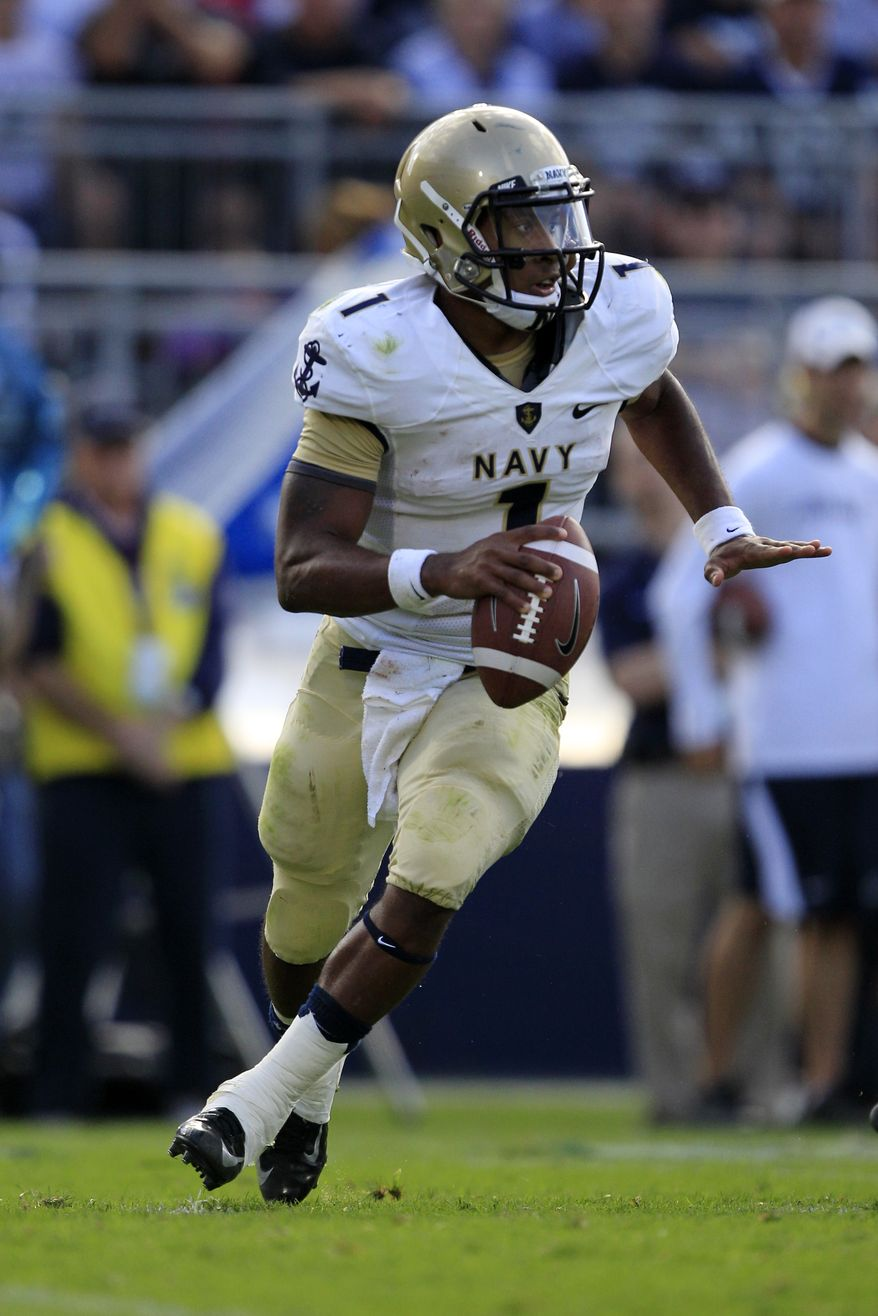 * FILE ** Navy quarterback Trey Miller (1) (AP Photo/Gene J. Puskar)