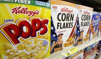 ** FILE ** Kellogg's cereals. (Associated Press)