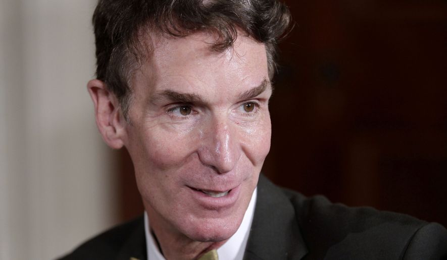 """Bill Nye, host of television's """"Bill Nye The Science Guy,"""" attends a White House science fair on Oct. 18, 2010. (Associated Press) ** FILE **"""
