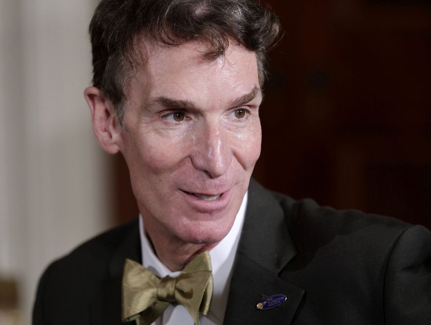 "Bill Nye, host of television's ""Bill Nye The Science Guy,"" attends a White House science fair on Oct. 18, 2010. (Associated Press) ** FILE **"