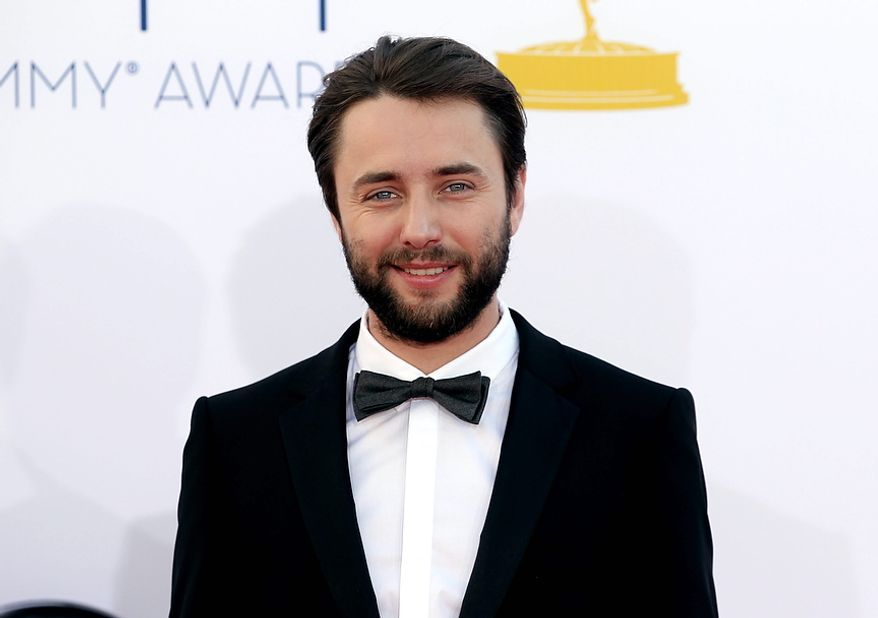 Vincent Kartheiser arrives at the 64th Primetime Emmy Awards at the Nokia Theatre on Sunday, Sept. 23, 2012, in Los Angeles. (Photo by Matt Sayles/Invision/AP)
