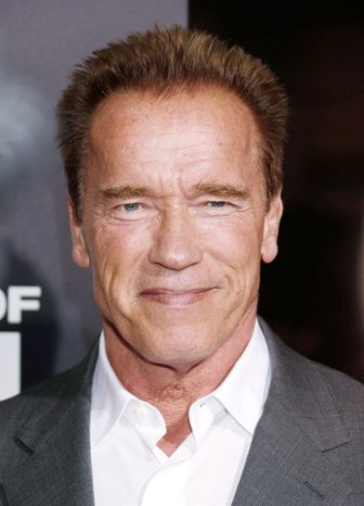 """Arnold Schwarzenegger attends the L.A. premiere of """"End of Watch"""" at Regal Cinemas L.A. Live on Monday, Sept. 17, 2012, in Los Angeles. (Invision via Associated Press)"""