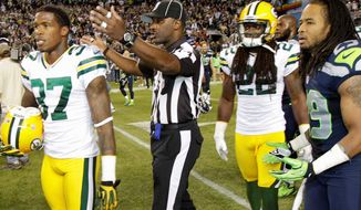 The NFL's substitute referees have come under increasing criticism after Sunday's questionable call. (Associated Press)