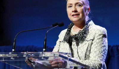 Secretary of State Hillary Rodham Clinton on Wednesday at the U.N. General Assembly in New York told Myanmar President Thein Sein that the United States will ease its import ban on the country. (Associated Press)