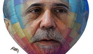 Illustration Bernanke Balloon by Greg Groesch for The Washington Times