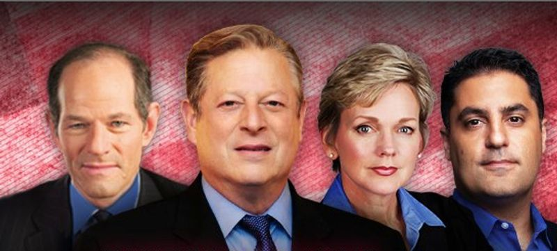 Al Gore will anchor the Current TV coverage with Jennifer Granholm, Eliot Spitzer and Cenk Uygur when President Obama and Mitt Romney debate next Wednesday. (image from Current TV)