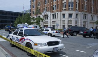 "A security guard was shot at the Family Research Council building in Washington on Aug. 15, 2012. Floyd Lee Corkins told authorities that he wanted to kill as many employees as possible after finding the group on the Southern Poverty Law Center's ""hate map.""(The Washington Times/File)"