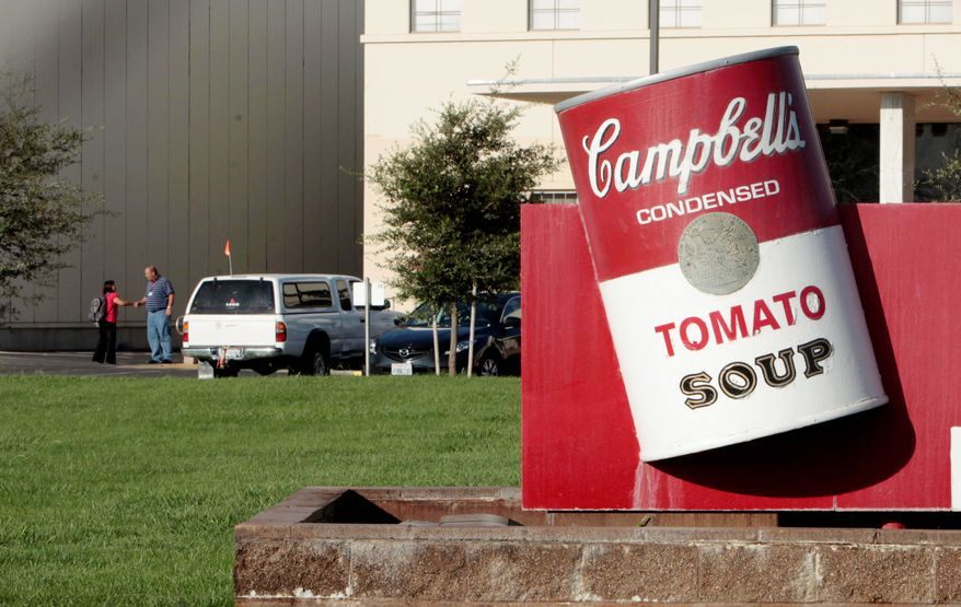 A Campbell Soup Co. factory in Sacramento, Calif. The world's largest soup maker said it will close Sacramento plant that has about 700 full-time workers. The plant, which makes soups, sauces and beverages is the company's oldest in the country. (Associated Press)