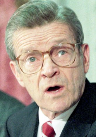 John Silber, seen here in November 1995, served as Boston University president for a quarter century, from 1971 to 1996. A conservative Democrat, he narrowly lost a bid for the governorship of Massachusetts in 1990. Mr. Silber died Thursday at age 86. (Associated Press)