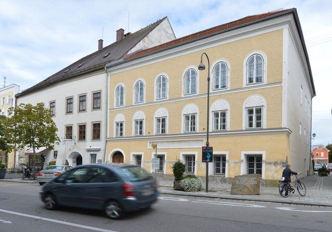 Nazi dictator Adolph Hitler was born in this 500-year-old yellow stucco house in Braunau am Inn, Austria. (AP Photo / Kerstin Joensson)
