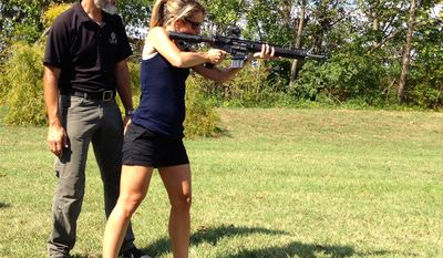 Emily Miller training with Rob Pincus at Wincheter Ammunition