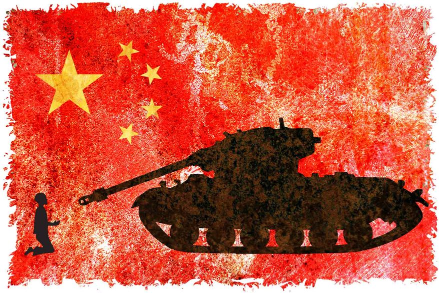 Illustration: China by Alexander Hunter for The Washington Times