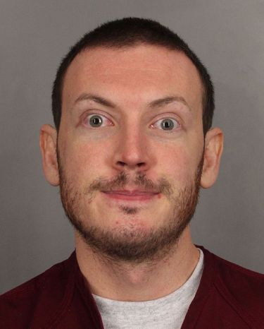 This photo released Sept. 20, 2012, by the Arapahoe County Sheriff's Office shows James Holmes, who is being held on charges in the shooting at an Aurora, Colo., theater on July 20 that killed 12 people and wounded 52. (Associated Press/Arapahoe County Sheriff's Office)