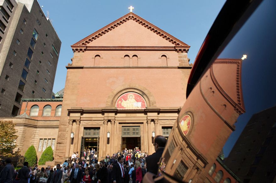 Red Mass ends at Cathedral of St. Matthew the Apostle, Washington, D.C. (Andrew Harnik/The Washington Times)