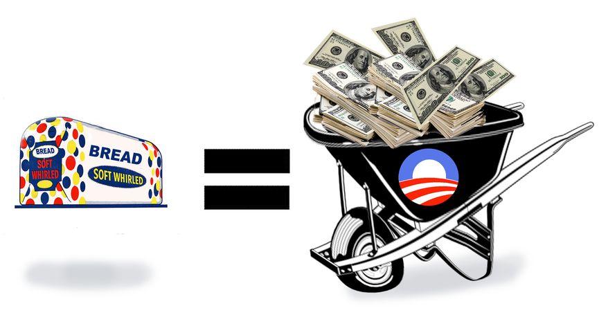 Illustration Obama's Depression by John Camejo for The Washington Times