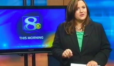 This frame grab provided by WKBT-TV in La Crosse, Wis., shows television anchorwoman Jennifer Livingston during her Oct. 2, 2012, broadcast as she responds to a viewer who wrote her an email criticizing her weight. (Associated Press/Courtesy of WKBT-TV)
