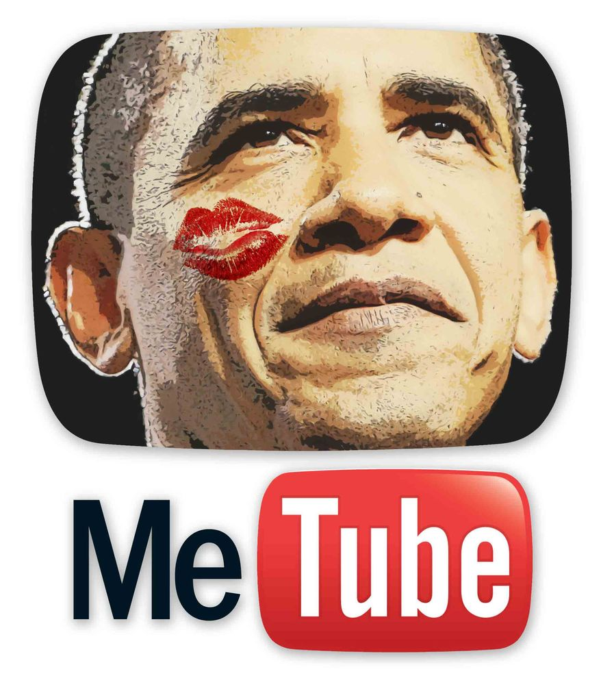 Illustration Obama MeTube by Greg Groesch for The Washington Times