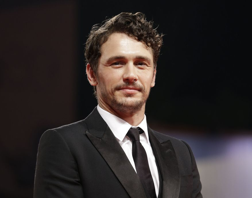 """Actor James Franco attends the premiere of the film """"Spring Breakers"""" at the 69th edition of the Venice Film Festival in Venice, Italy, on Wednesday, Sept. 5, 2012. (AP Photo/Andrew Medichini)"""