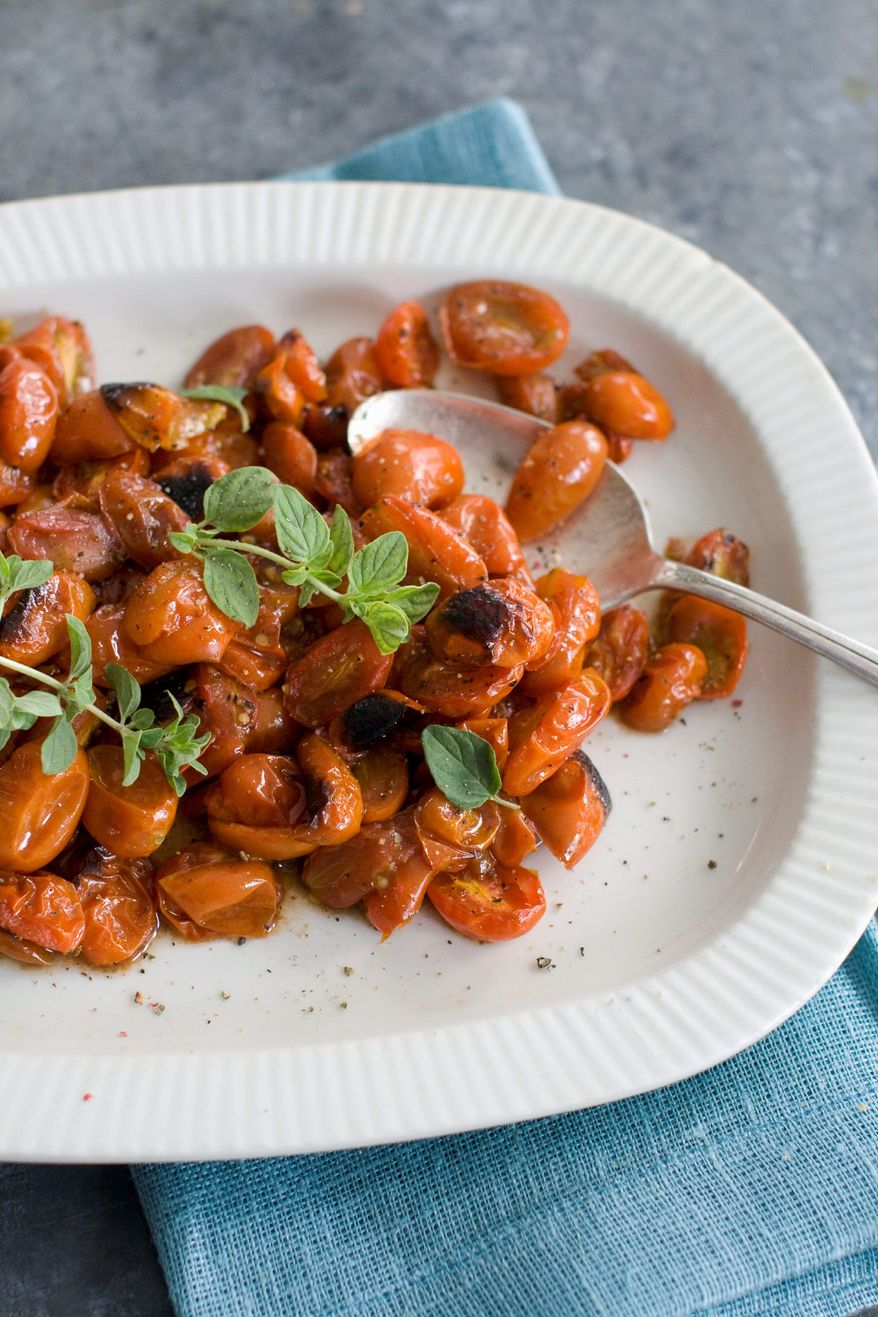 Roasted balsamic cherry tomatoes (Associated Press)