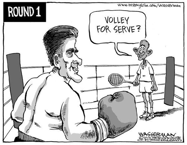 Volley for Serve? (Illustration by Dan Wasserman of the Boston Globe)
