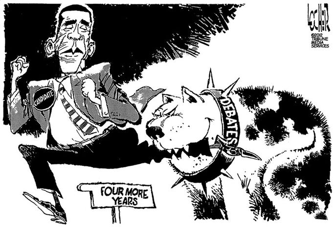 Four More Years (Illustration by Dick Locher of the Tribune Media Services)