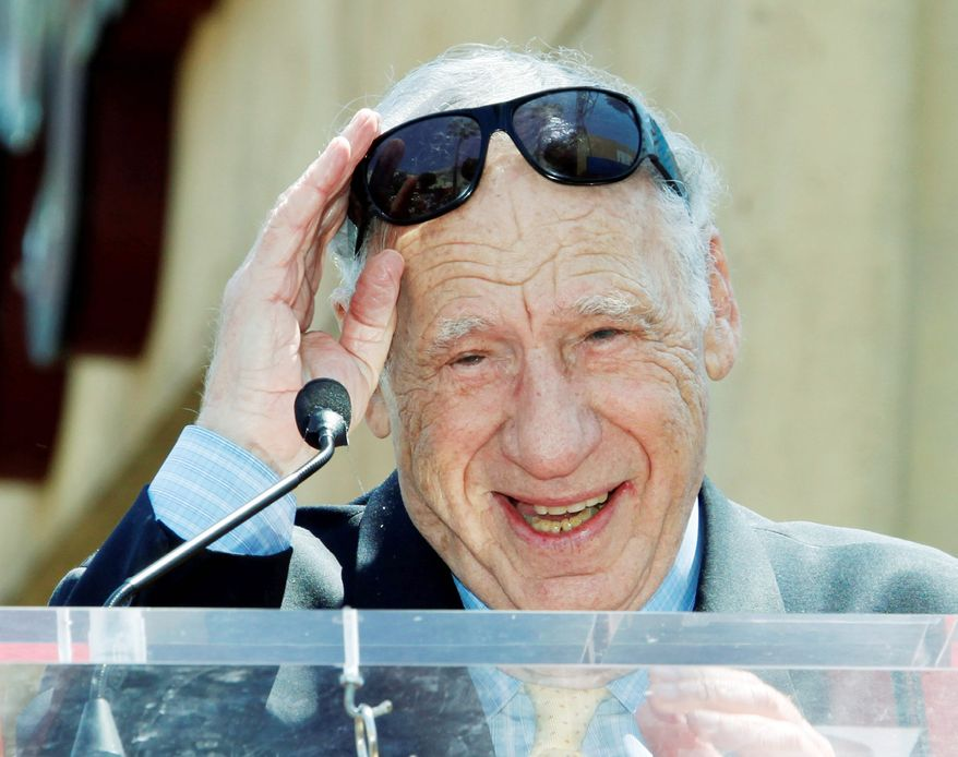 """Mel Brooks will receive the American Film Institute's Life Achievement Award. His credits include """"The Producers."""" (Associated Press)"""
