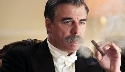 """Chris Noth portrays J.P. Morgan in a scene from """"Titanic: Blood and Steel,"""" a 12-hour miniseries on the Encore cable channel. The series will premiere on six consecutive nights, with two episodes airing back to back, beginning Monday at 8 p.m. (Associated Press)"""