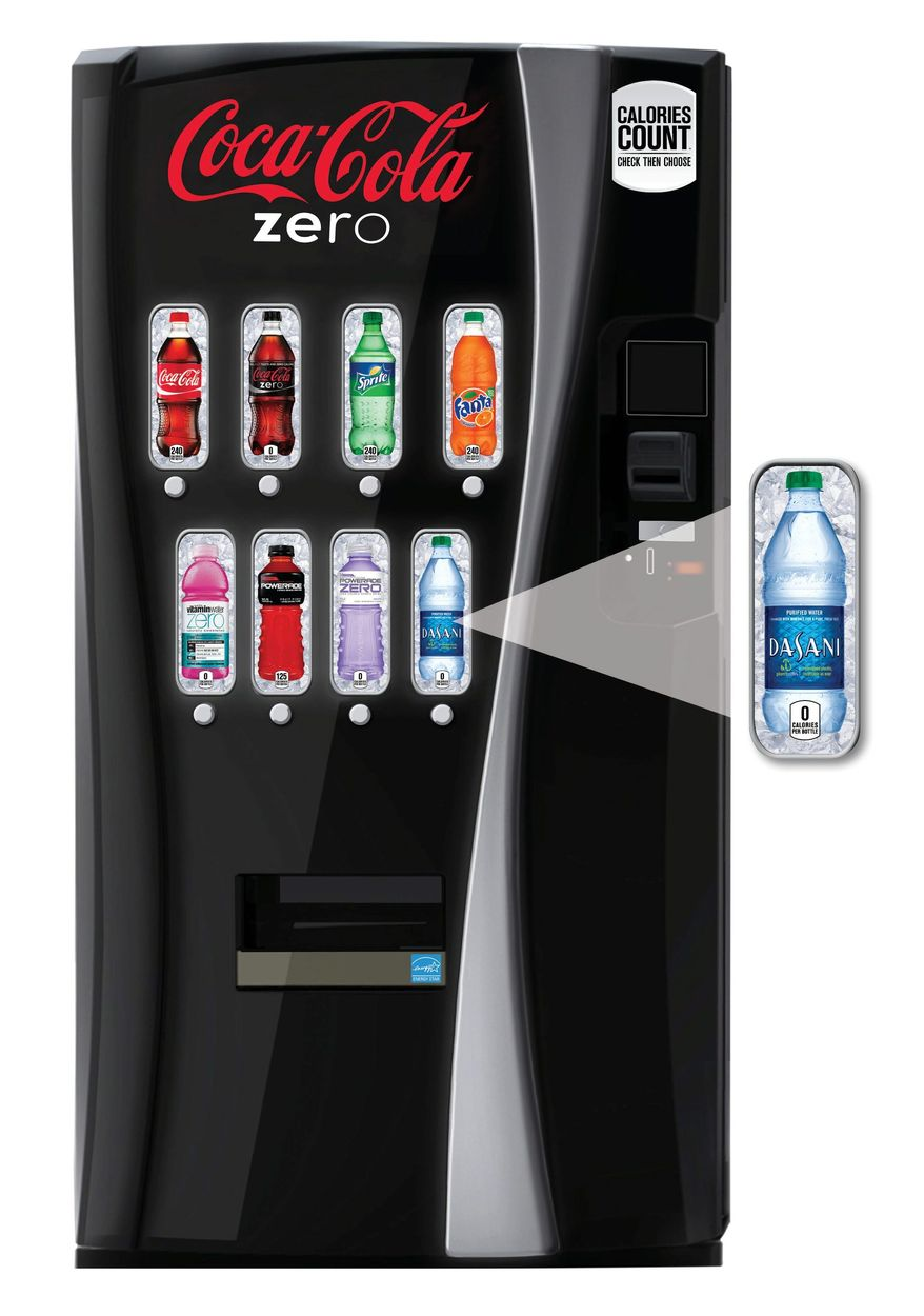 Associated press Coca-Cola announced Monday it plans to roll out new soda vending machines displaying the calorie content of its soft drinks starting next year. PepsiCo and other soft-drink makers will do likewise, the American Beverage Association said. The new vending machines are in response to criticism of sugary sodas.