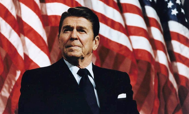 ** Former President Ronald Reagan. (Courtesy of the Ronald Reagan Presidential Foundation and Library)