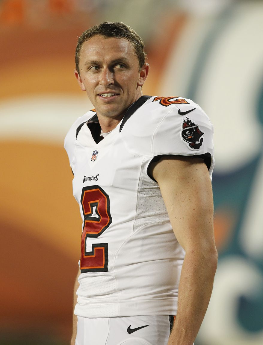 The Washington Redskins signed kicker Kai Forbath on Tuesday. He was waived by the Tampa Bay Buccaneers earlier this season. (Associated Press)