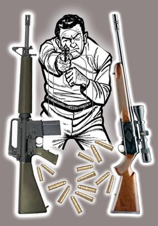 Illustration Gun Country by John Camejo for The Washington Times