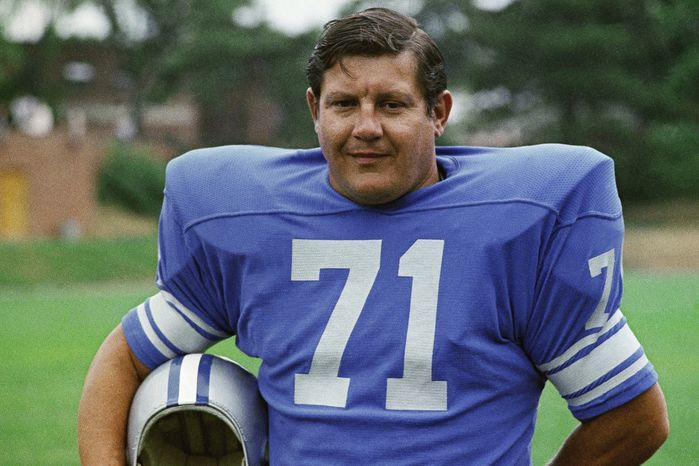 All-Pro defensive lineman Alex Karras of the Detroit Lions is pictured in 1971. (AP Photo)