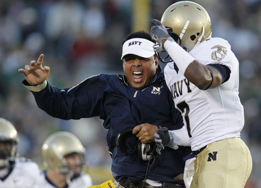 ** FILE ** Navy head coach Ken Niumatalolo. (AP Photo/Darron Cummings)