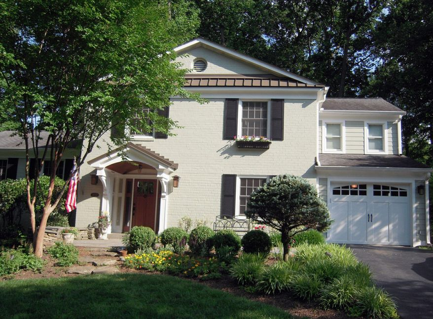 Rick Matus of Case Design/Remodeling in Bethesda recommends a portico entrance on homes with a flat front to define the entrance give the home presence.