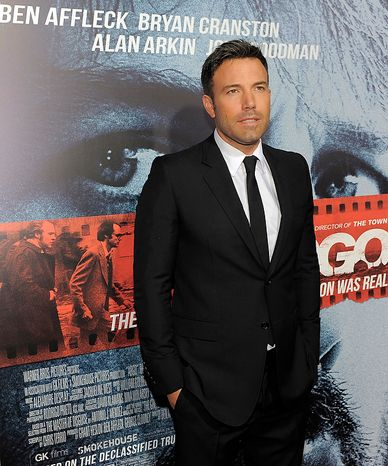 "Ben Affleck, director, producer and a cast member of ""Argo,"" poses at the premiere of the film at The Academy of Motion Picture Arts & Sciences on Thursday, Oct. 4, 2012, in Beverly Hills, Calif. (Photo by Chris Pizzello/Invision/AP)"